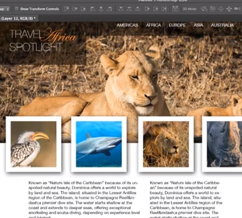 Photoshop Web Design in 5 Minutes