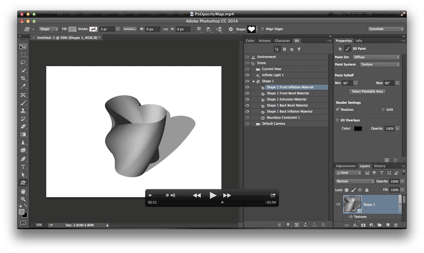 making 3d objects hollow in photoshop for 3d printing paul trani